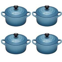 Le Creuset Petit Casseroles Set of 4 Teal