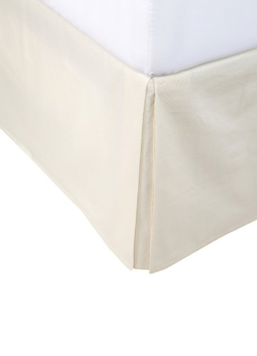"400 Thread Count 100% Egyptian Cotton Solid Ivory King / California King 16"" Drop Length Bed Skirts front-913354"