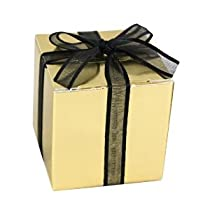Ghirardelli Chocolate Gold 2x2 Favor Box
