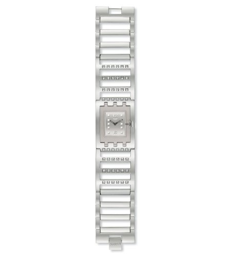Swatch Ladies Brilliant Bangle Stainless Steel Bracelet Watch
