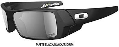 Oakley Juan Pablo Montoya Gascan Men's Special Edition Signature Series Race Wear Sunglasses - Color: Matte Black/Black Iridium, Size: One Size Fits All