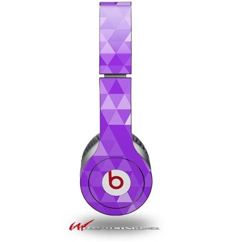 Triangle Mosaic Purple Decal Style Skin (Fits Genuine Beats Solo Hd Headphones - Headphones Not Included)