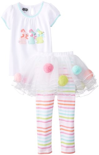 Mud Pie Little Girls' Bunny Skirt Set