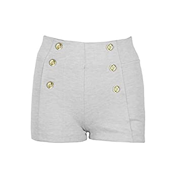 New Kathy Women's Solid High Waisted Vintage Style Shorts