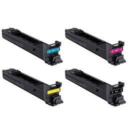 Toner Cartridge Set for Konica Minolta Magicolor 5550 5650 5570 5670 Yield 12,000 Pages