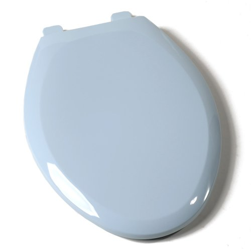 Comfort Seats C1B3E4S-40 EZ Close Deluxe Plastic Toilet Seat, Elongated, Dresden Blue