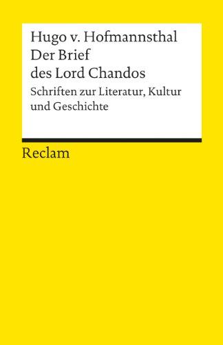 Der Brief des Lord Chandos. (Lernmaterialien)