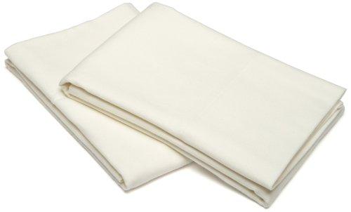 Pinzon Signature 190-Gram Cotton Velvet Flannel King Pillowcase, Set Of 2, Cream front-961539