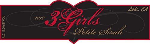 2012 3 Girls Petite Sirah Lodi 750 Ml