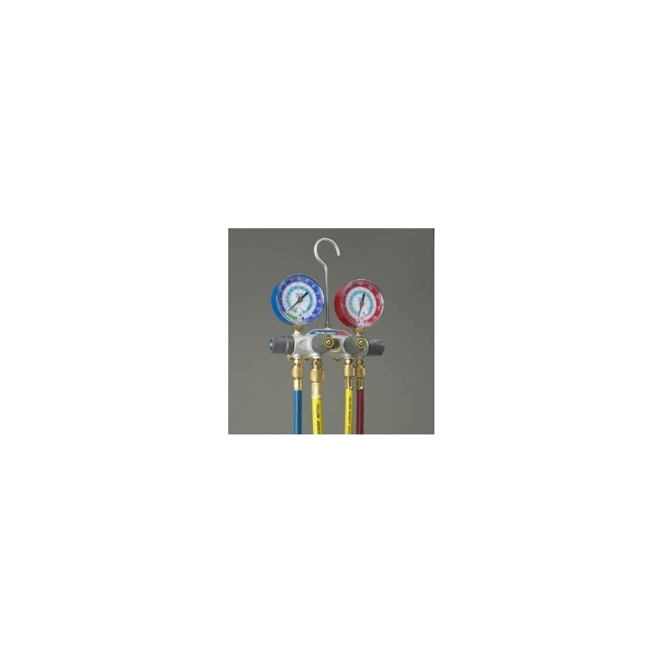 Yellow Jacket 49967 TITAN 4 V Manifold Gauges W/Hoses R 22/404A/410A [Misc.]