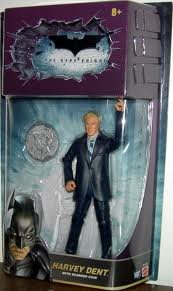 Batman Dark Knight Movie Master Exclusive Deluxe Action Figure Harvey Dent with Coin at Gotham City Store