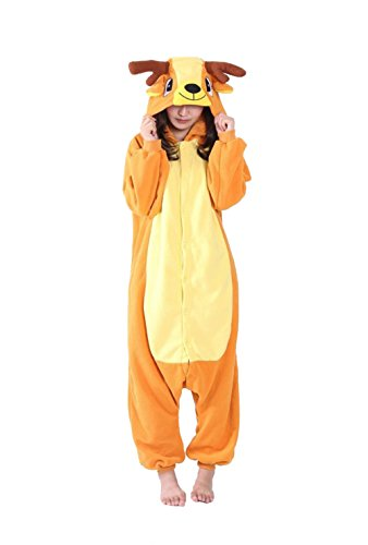 honeystore jumpsuit sika hirsch fasching halloween kost m sleepsuit cosplay pyjama schlafanzug. Black Bedroom Furniture Sets. Home Design Ideas