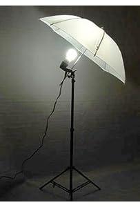 PHOTOGRAPHY STUDIO CONTINUOUS LIGHTING UMBRELLA KIT + Free 27 Watts 5500K Fluorescent Photo Lamp Bulb