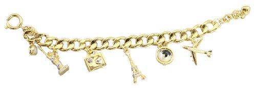 Juicy Couture Travel Charm Bracelet Gold Pre Assembled