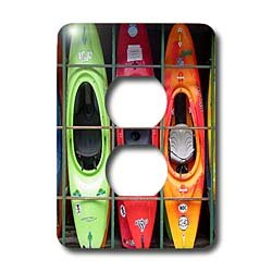 Water Sport - Kayak - Light Switch Covers - 2 plug outlet cover
