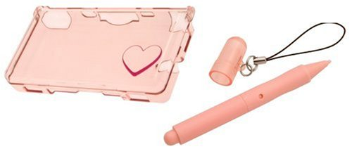 Pebble Entertainment Pink Crystal Case and Large Stylus for DS Lite (Nintendo DS)