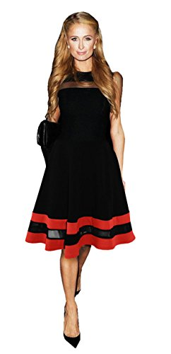 celebrity-paris-hilton-inspired-red-black-mesh-insert-contrast-skater-dress-8-16