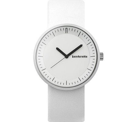Lambretta Franco 2160 Watch White Leather/White