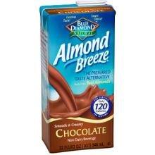 Blue Diamond Growers Chocolate Almond Breeze - Non Dairy Beverage, 64 Ounce -- 6 Per Case.