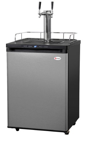 Best Review Of Kegco K309SS-2 Digital Kegerator - Double Faucet - D System - Stainless Door