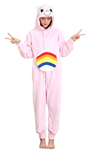 Japsom Adult Bear Jumpsuit Costume Pajamas Sleepwear with Hood