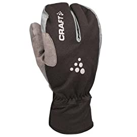 Craft 2011/12 Men's Thermal Split Finger Cycling Gloves - Black - 193541