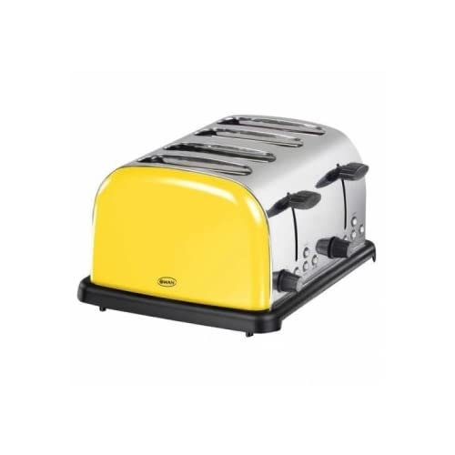 Swan ST14020YELN 4-Slice Stainless Steel Toaster, Mellow Yellow