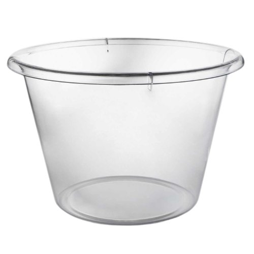 Party Essentials N12321 High Quality Plastic Extra-Large Ice Bucket, 10 qt Capacity, Clear (Case of 3)