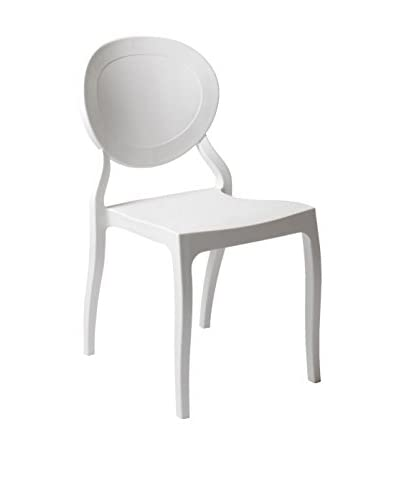 Eurostyle Vasska Side Chair, White