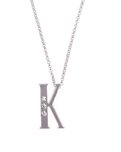 MUSAVENTURA Collar  Alphabet K Plata