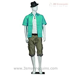3S Mannequins M5 GW Glossy Male Mannequin,(size : 111x39x38)