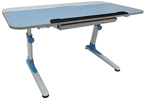 Ore International Bambini Scrivania ergonomica con tastiera, colore: blu