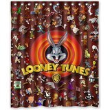 COLORFUL Home Decor Looney Tunes Characters Custom Shower Curtain 60 x 72 Inch Intimate Design