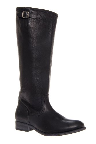Frye Pippa Back Zip Tall Low Heel Saddle Boot