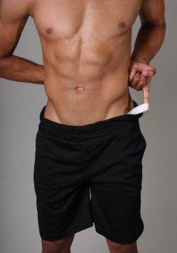 Go Softwear AJ Jockstrap Work-out Shorts - Black by Go Softwear