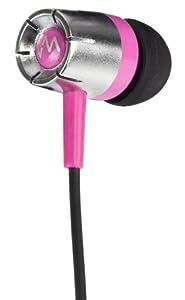 New VM Audio SREB5 In Ear Earphones MP3/iPod iPhone Headphones Stereo - Pink