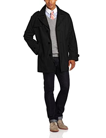 London Fog Men's Soho All Weather Coat, Black, Small