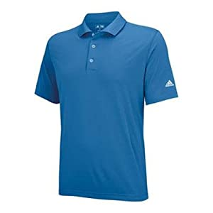 adidas Golf Men's Puremotion Solid Jersey Polo, Oasis/White, Medium