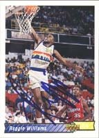 Reggie Williams Denver Nuggets 1993 Upper Deck Autographed Hand Signed Trading Card. by Hall+of+Fame+Memorabilia
