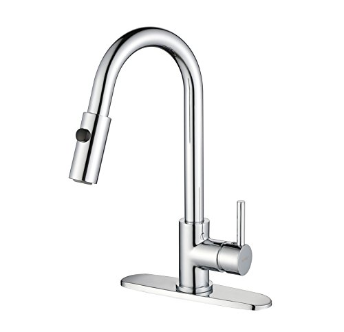"""Kitchen Faucet Extension: GAINWELL Ringstar Single Handle Kitchen Sink Faucet With Pull Down Sprayer 12 Inch Extension, 3/8"""" U"""