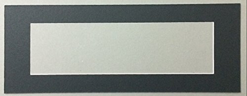 Bux1 Matting 12x28 Black Panoramic Picture Mat with White Core for 8x24 Picture-Matting Only (8x24 Picture Frame compare prices)