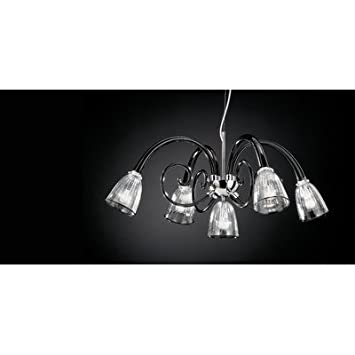 4004 Chandelier Shade / Dropper Colour: Milk-White / Clear Glass