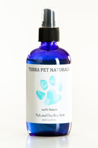 100% Natural Flea and Tick Repellent Spray for Dogs and Puppies, 8 oz., for Flea and Tick Prevention, Treatment, and Control. Effective, All-Natural and Organic Ingredients.