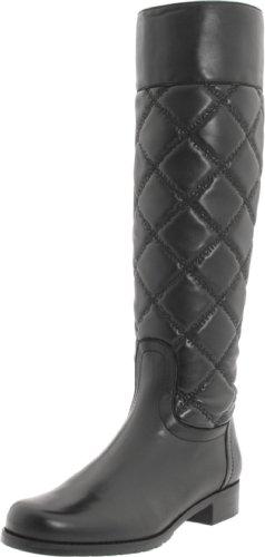 Stuart Weitzman Women's Quilby Boot,Black Nappa,6 M US