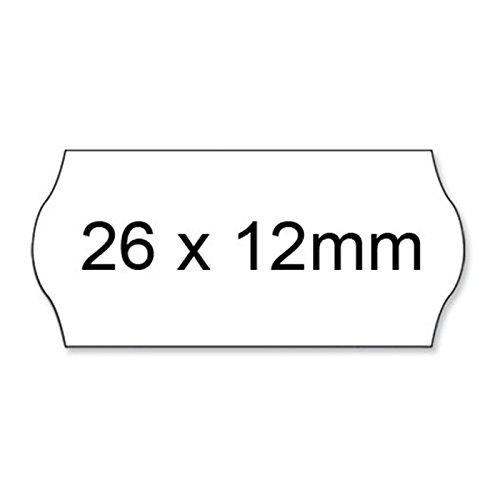 Acropaq 23012 Set de 36 Rouleaux d'étiquettes amovibles Blanc