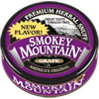 Smokey Mountain Snuff, 5 Cans - Grape - Tobacco Free, Nicotine Free