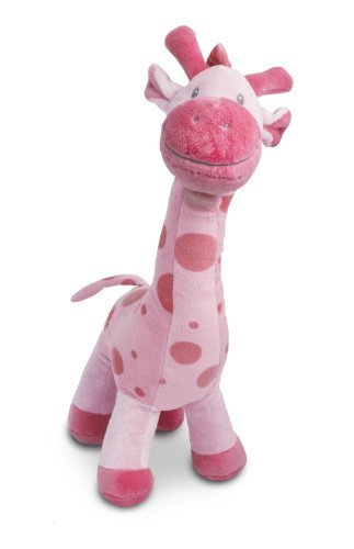 "Beverly Hills Teddy Bear Company Stuffed Giraffe in Pink, 15"" - 1"