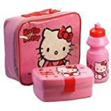 HELLO KITTY LUNCH BAG KIT - INCLUDING WATER BOTTLE, SANWICH BOX & LUNCH BAG WITH PVC FRONT & VISIBLE BACK COVER