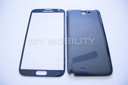Samsung Galaxy Note 2 Grey Replacement Glass Screen With Back Cover N7100 N7199 T889 I317 - Diymobility