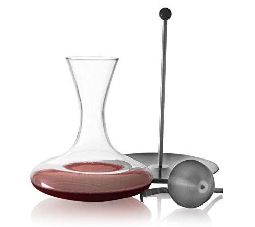 Reception 1605184 Service de 3 Verres à Décanter pour Vin Verre Transparent 23,5 x 23,5 x 28 cm